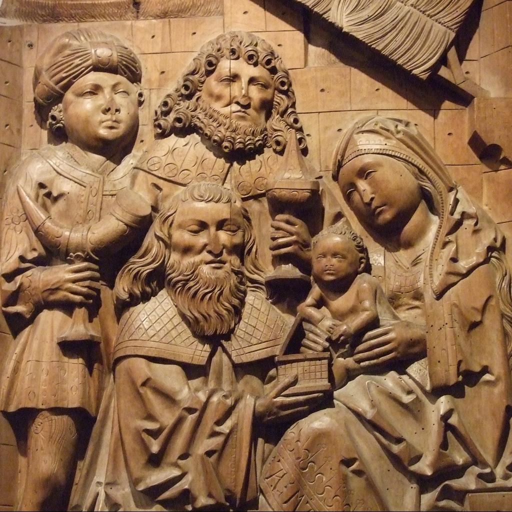 Holzschnitzerei Die Anbetung der Weisen aus dem Morgenland Italien Rom eigenes Foto